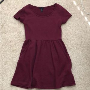 Forever 21 maroon babydoll dress